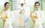 Diện áo dài hoa sen vàng cùng đội vương miện, H'Hen Niê thật biết cách lấy lòng khán giả