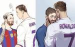 Quá nhanh quá nguy hiểm: Hủ nữ đã 'chế' ảnh yêu đương của Messi và CR7 rồi đây này!
