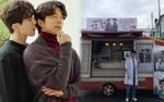 'Yêu tinh' Gong Yoo gửi xe cà phê kèm lời nhắn chọc ghẹo 'thần chết' Lee Dong Wook vào sinh nhật mình