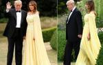 Đệ nhất phu nhân Melania Trump tuyệt đẹp trong chiếc đầm vàng có giá gần 150 triệu đồng
