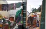 Hình ảnh ngổn ngang sau khi nhà cửa bị lốc xoáy thổi tốc mái ở Phú Quốc