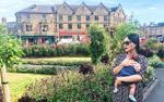 Lan Phương đưa cô công chúa nhỏ về thăm gia đình nội ở trời Anh