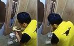 Nhân viên giao hàng bị bắt quả tang ăn vụng đồ của khách