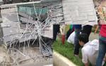 Đứt cáp cẩu trục ở Hà Nội, ít nhất một người bị thương