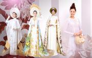 Minh Tú đột phá với National Costume trắng tinh khôi, Miss Áo dài Khánh Vân có làm nên chuyện?