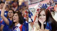 Nữ CĐV Thái Lan xinh đẹp 'thiêu đốt' sân Mỹ Đình