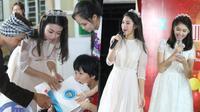 Hoa hậu Mỹ Linh đi chân đất vui tết Trung Thu cùng trẻ em cơ nhỡ