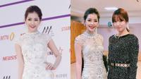 Chi Pu lộng lẫy, khoe sắc bên Park Shin Hye và Yoona trong hậu trường Asia Artist Awards