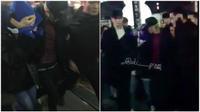 Clip: G-Dragon vừa bảo vệ, vừa hôn Dara trước hàng trăm fan