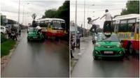 'Ngáo đá', một cô gái trẻ bị tài xế taxi hành hung vì phá hoại tài sản