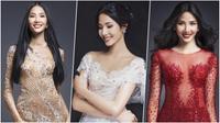 Hoàng Thùy lộng lẫy như nữ thần trên 'đường đua' đến vương miện Hoa hậu Hoàn vũ Việt Nam 2017