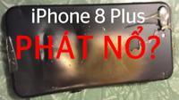 HOT: iPhone 8 Plus pin 70%, vừa cắm sạc 3 phút đã nổ dù sạc chính hãng
