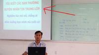 Thầy giáo khiến học sinh 'cười bò' khi cảnh cáo việc nhắn tin trong lớp theo cách thức 'bá đạo'
