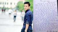 Fan nữ mê Quế Ngọc Hải gây sốt khi cover 'Em gái mưa' toàn tên cầu thủ
