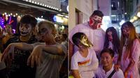Nhiều 'thây ma' đổ ra đường chơi Halloween, phố đi bộ ở Sài Gòn kẹt cứng