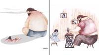 Tự thấy trái tim 'mềm nhũn' khi xem bộ tranh 'Bố và con gái' cực đáng yêu