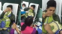 Nam sinh viên mếu máo vì sợ kim tiêm khi hiến máu tình nguyện khiến cư dân mạng cười ngất