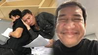 Táo Quân 2018: Quang Thắng selfie khoe 'mũi to', Tự Long ngủ gật, Xuân Bắc - Công Lý nằm tựa nhau