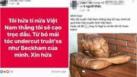 Fan hâm mộ khóc ròng vì thề độc sẽ cạo đầu, khỏa thân nếu U23 Việt Nam thắng
