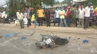 Loạng choạng tay lái, người phụ nữ tử vong thương tâm dưới bánh xe container