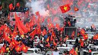 Báo Pháp ví đội tuyển U23 Việt Nam được chào đón như ngôi sao nhạc rock