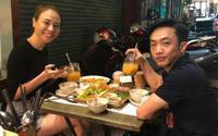 Cường Đô La đón Valentine hạnh phúc bên bạn gái Đàm Thu Trang tại vỉa hè