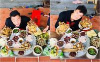 Bữa cơm sum vầy cùng đại gia đình của anh em thủ môn Bùi Tiến Dũng trong ngày đầu năm mới