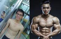 Ngỡ ngàng: Chàng trai gầy nhom thành nam thần 6 múi nhờ gym