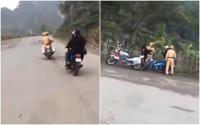 Đôi nam nữ rú ga, lạng lách ở Tràng An bị phạt 7,3 triệu đồng