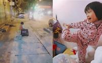 Dân mạng thích thú với cô bé nói chưa sõi nhưng nhiều lần 'xách vali bỏ nhà ra đi để cứu giúp bạn bè'