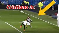 Clip: Con trai Ronaldo trổ tài 'làm xiếc' với trái bóng