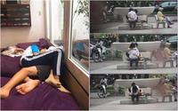 Phản cảm clip đôi bạn trẻ mặc đồng phục thể dục của học sinh, vô tư nằm ôm hôn tại quán cafe