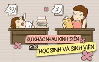 Bộ tranh chứng minh những điểm khác biệt kinh điển giữa thời học sinh và sinh viên