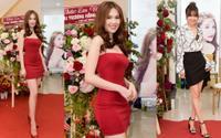 Ngọc Trinh diện váy hai dây ngắn cũn bất chấp đang tăng cân, Lan Ngọc kín đáo dự sự kiện