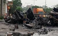 Xe container tông nhau bốc cháy dữ dội, 2 vợ chồng tử vong thương tâm
