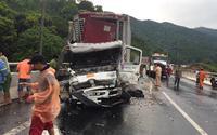 Tai nạn liên hoàn phía nam hầm Hải Vân, giao thông ách tắc nghiêm trọng