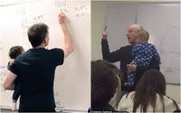 Những Giáo sư vừa giữ trẻ vừa giảng bài cùng câu chuyện nhân văn phía sau khiến nhiều người cảm phục