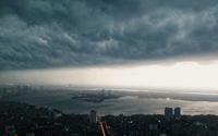 Dân mạng 'náo loạn' khi mây đen kéo đến bao trùm kín mít bầu trời Hà Nội