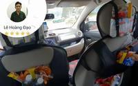 Dân mạng náo loạn truy lùng bác tài xế Grab hào phóng nhất 'Vịnh Bắc Bộ': Chuẩn bị cả 'siêu thị' đồ ăn miễn phí trên xe cho khách