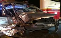 Xe khách đấu đầu xe tải tại đường dẫn hầm Hải Vân, 4 người bị thương