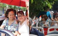 Khách tham quan đội nắng, né cành cây khi đi xe buýt 2 tầng mui trần ở Hà Nội