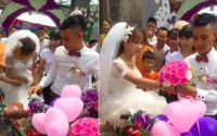 Chú rể rước dâu bằng 'siêu xe cây nhà lá vườn', dân mạng nhắc nhở cẩn thận váy mắc vào nan hoa