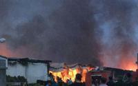 Đang cháy lớn nhiều tiếng đồng hồ khu công nghiệp ở Phú Thọ
