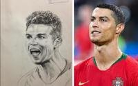 'Họa sĩ tiên tri' vẽ cầu thủ đội nào là sẽ hòa hoặc thua: Fan Bồ Đào Nha hoang mang khi ảnh chân dung của CR7 đã được đăng tải