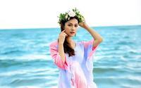 Cận cảnh vẻ đẹp tựa 'thiên thần' của Hoa hậu Việt bình luận trên VTV