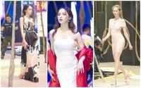 Ngọc Trinh, Hương Giang mướt mồ hôi luyện tập cho show thời trang