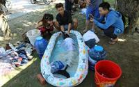 Nhóm bạn trẻ trắng đêm cứu hộ cá heo dạt vào bờ biển Đà Nẵng