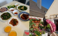 Ban công ngập hoa và rau, mẹ Việt tại Đức đảm đang nấu đủ món quê hương