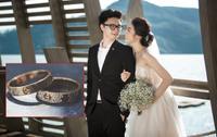 Cận cảnh nhẫn cưới 200 triệu của Tú Anh và ông xã Gia Lộc