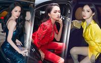 Ra cửa ô tô thôi cũng quyến rũ thế này, hoa hậu Hương Giang đúng là 'nữ hoàng rời xe'